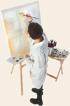 Eine Kunstmalerin