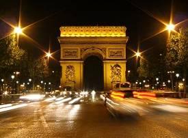 Der Triumphbogen an der Champs-Élysées
